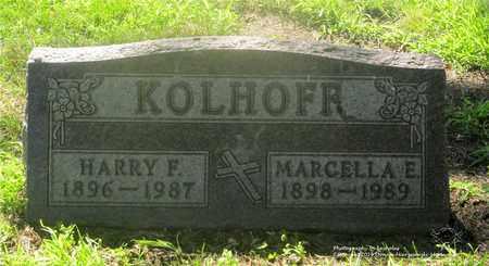 KOLHOFF, HARRY F. - Lucas County, Ohio   HARRY F. KOLHOFF - Ohio Gravestone Photos