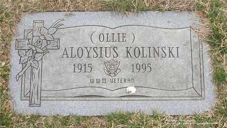 KOLINSKI, ALOYSIUS - Lucas County, Ohio | ALOYSIUS KOLINSKI - Ohio Gravestone Photos
