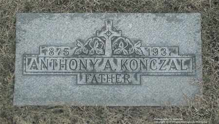 KONCZAL, ANTHONY A. - Lucas County, Ohio | ANTHONY A. KONCZAL - Ohio Gravestone Photos