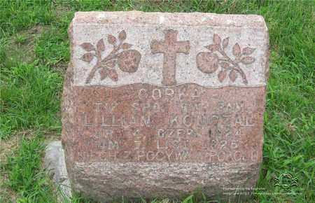 KONCZAL, LILLIAN - Lucas County, Ohio | LILLIAN KONCZAL - Ohio Gravestone Photos