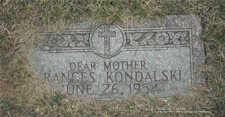 KONDALSKI, FRANCES - Lucas County, Ohio | FRANCES KONDALSKI - Ohio Gravestone Photos