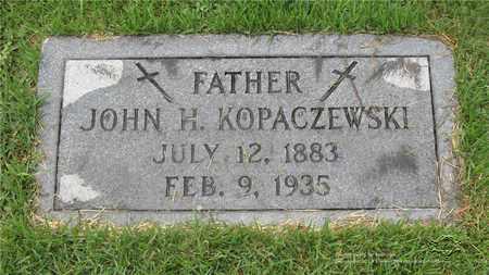 KOPACZEWSKI, JOHN H. - Lucas County, Ohio   JOHN H. KOPACZEWSKI - Ohio Gravestone Photos