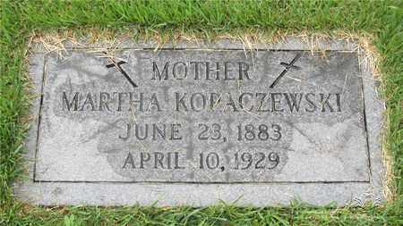 KOZLOWSKI KOPACZEWSKI, MARTHA - Lucas County, Ohio | MARTHA KOZLOWSKI KOPACZEWSKI - Ohio Gravestone Photos