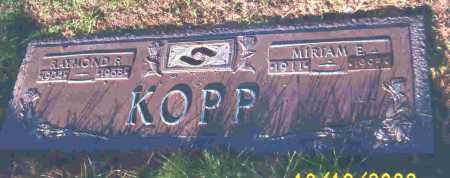 KOPP, MIRIAM E. - Lucas County, Ohio   MIRIAM E. KOPP - Ohio Gravestone Photos