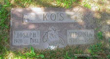 KOS, JOSEPH - Lucas County, Ohio | JOSEPH KOS - Ohio Gravestone Photos