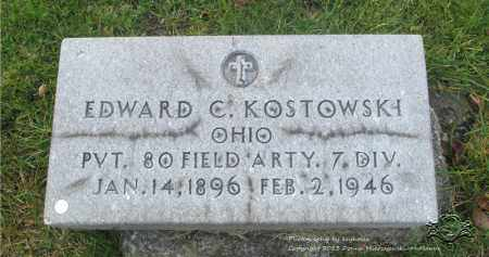 KOSTOWSKI, EDWARD C. - Lucas County, Ohio | EDWARD C. KOSTOWSKI - Ohio Gravestone Photos