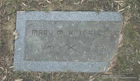 KOTCHEROSKI, MARY M. - Lucas County, Ohio | MARY M. KOTCHEROSKI - Ohio Gravestone Photos