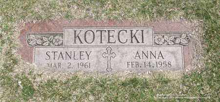 KOTECKI, ANNA - Lucas County, Ohio   ANNA KOTECKI - Ohio Gravestone Photos
