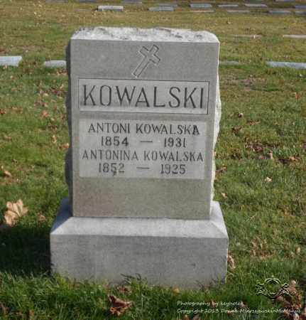KOWALSKI, ANTONINA - Lucas County, Ohio | ANTONINA KOWALSKI - Ohio Gravestone Photos