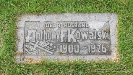KOWALSKI, ANTHONY F. - Lucas County, Ohio   ANTHONY F. KOWALSKI - Ohio Gravestone Photos