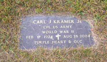 KRAMER, CARL JOHN JR. - Lucas County, Ohio | CARL JOHN JR. KRAMER - Ohio Gravestone Photos