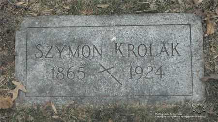 KROLAK, SZYMON - Lucas County, Ohio | SZYMON KROLAK - Ohio Gravestone Photos