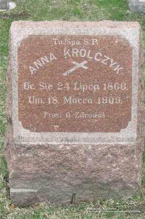 GABUR KROLCZYK, ANNA - Lucas County, Ohio | ANNA GABUR KROLCZYK - Ohio Gravestone Photos