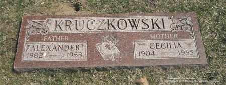 KRUCZKOWSKI, ALEXANDER - Lucas County, Ohio | ALEXANDER KRUCZKOWSKI - Ohio Gravestone Photos