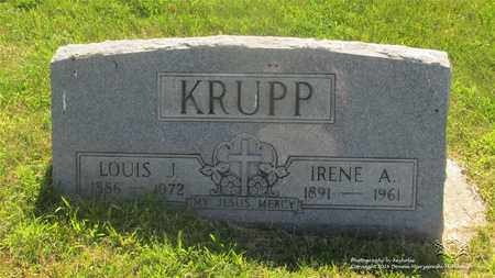 KRUPP, LOUIS J. - Lucas County, Ohio | LOUIS J. KRUPP - Ohio Gravestone Photos