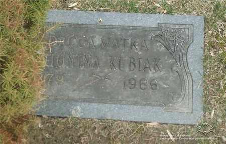 KUBIAK, ANTONINA - Lucas County, Ohio | ANTONINA KUBIAK - Ohio Gravestone Photos