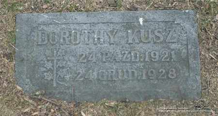 KUSZ, DOROTHY - Lucas County, Ohio   DOROTHY KUSZ - Ohio Gravestone Photos