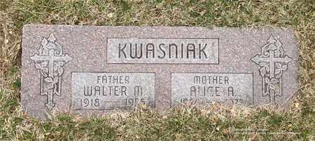 KWASNIAK, WALTER M. - Lucas County, Ohio | WALTER M. KWASNIAK - Ohio Gravestone Photos