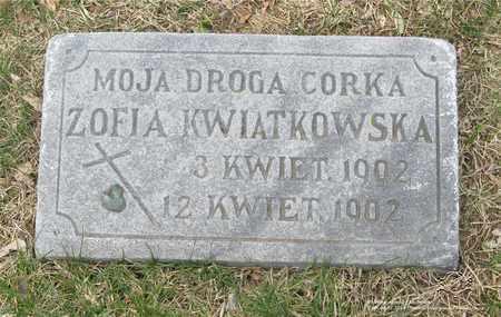 KWIATKOWSKA, ZOFIA - Lucas County, Ohio | ZOFIA KWIATKOWSKA - Ohio Gravestone Photos