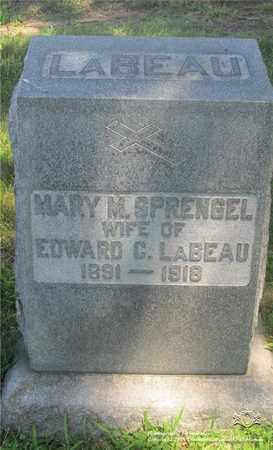 SPRENGEL LABEAU, MARY M. - Lucas County, Ohio | MARY M. SPRENGEL LABEAU - Ohio Gravestone Photos