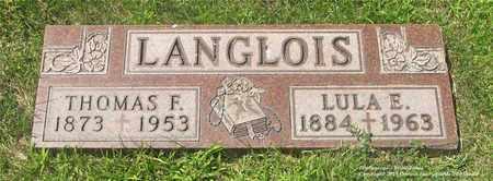 LANGLOIS, LULA E. - Lucas County, Ohio | LULA E. LANGLOIS - Ohio Gravestone Photos