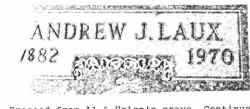 LAUX, ANDREW J. - Lucas County, Ohio   ANDREW J. LAUX - Ohio Gravestone Photos