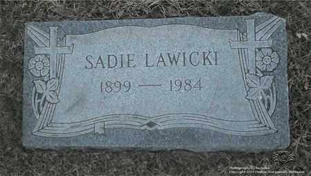 LAWICKI, SADIE - Lucas County, Ohio   SADIE LAWICKI - Ohio Gravestone Photos