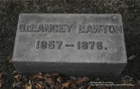 LAWTON, DELANCEY - Lucas County, Ohio | DELANCEY LAWTON - Ohio Gravestone Photos
