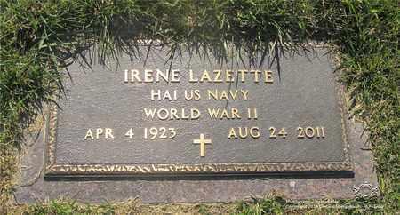 LAZETTE, IRENE - Lucas County, Ohio | IRENE LAZETTE - Ohio Gravestone Photos