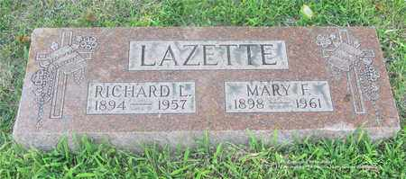 LAZETTE, MARY F. - Lucas County, Ohio | MARY F. LAZETTE - Ohio Gravestone Photos
