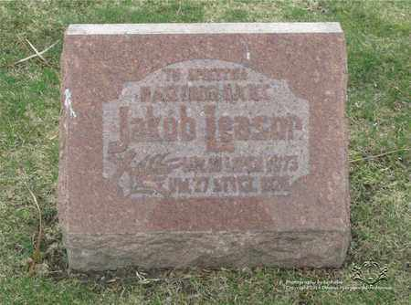 LEASOR, JAKOB - Lucas County, Ohio   JAKOB LEASOR - Ohio Gravestone Photos