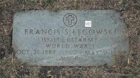 LEGOWSKI, FRANCIS S. - Lucas County, Ohio | FRANCIS S. LEGOWSKI - Ohio Gravestone Photos