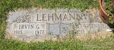 LEHMANN, IRVIN G. - Lucas County, Ohio | IRVIN G. LEHMANN - Ohio Gravestone Photos