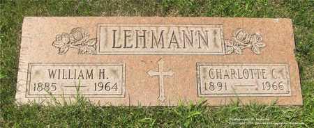 LEHMANN, WILLIAM H. - Lucas County, Ohio   WILLIAM H. LEHMANN - Ohio Gravestone Photos