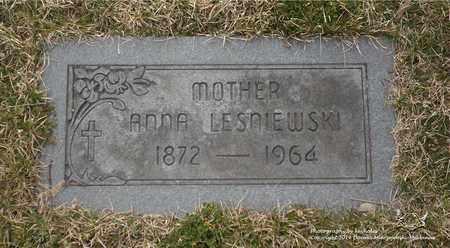 LESNIEWSKI, ANNA - Lucas County, Ohio | ANNA LESNIEWSKI - Ohio Gravestone Photos