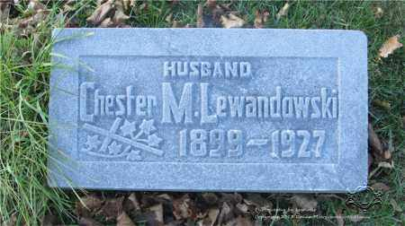 LEWANDOWSKI, CHESTER M. - Lucas County, Ohio | CHESTER M. LEWANDOWSKI - Ohio Gravestone Photos