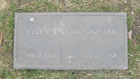 LEWANDOWSKI, HELEN E. - Lucas County, Ohio   HELEN E. LEWANDOWSKI - Ohio Gravestone Photos