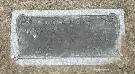 NIEBOJEWSKI LEWANDOWSKI, MARYANNA - Lucas County, Ohio | MARYANNA NIEBOJEWSKI LEWANDOWSKI - Ohio Gravestone Photos