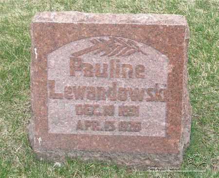 LEWANDOWSKI, PAULINE - Lucas County, Ohio | PAULINE LEWANDOWSKI - Ohio Gravestone Photos