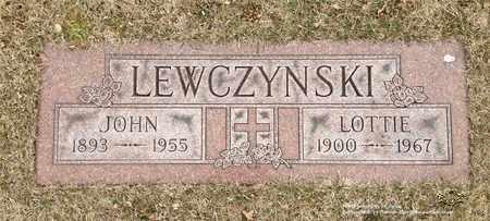 LEWCZYNSKI, JOHN - Lucas County, Ohio | JOHN LEWCZYNSKI - Ohio Gravestone Photos