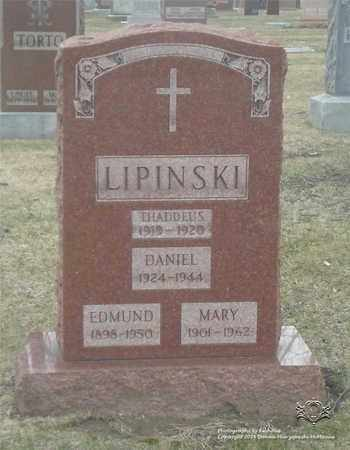 LIPINSKI, EDMUND - Lucas County, Ohio   EDMUND LIPINSKI - Ohio Gravestone Photos
