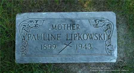 LIPKOWSKI, PAULINE (PELAGIA) - Lucas County, Ohio | PAULINE (PELAGIA) LIPKOWSKI - Ohio Gravestone Photos