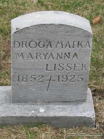 LISSEK, MARYANNA - Lucas County, Ohio   MARYANNA LISSEK - Ohio Gravestone Photos