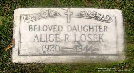 LOSEK, ALICE R. - Lucas County, Ohio | ALICE R. LOSEK - Ohio Gravestone Photos