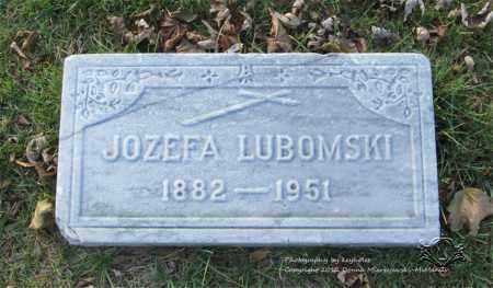SKONIECZNY LUBOMSKI, JOZEFA - Lucas County, Ohio | JOZEFA SKONIECZNY LUBOMSKI - Ohio Gravestone Photos