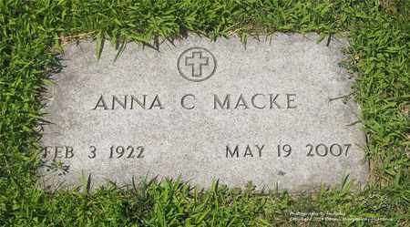 MACKE, ANNA C. - Lucas County, Ohio   ANNA C. MACKE - Ohio Gravestone Photos