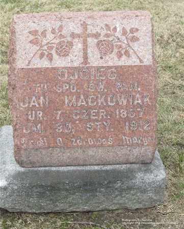 MACKOWIAK, JAN - Lucas County, Ohio   JAN MACKOWIAK - Ohio Gravestone Photos