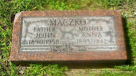 MACZKO, JOHN - Lucas County, Ohio | JOHN MACZKO - Ohio Gravestone Photos