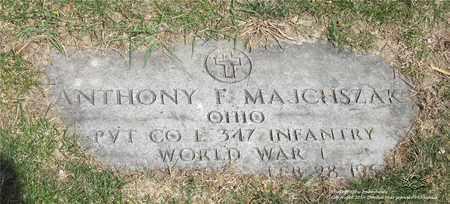 MAJCHSZAK, ANTHONY F. - Lucas County, Ohio | ANTHONY F. MAJCHSZAK - Ohio Gravestone Photos
