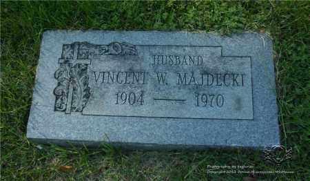 MAJDECKI, VINCENT W. - Lucas County, Ohio | VINCENT W. MAJDECKI - Ohio Gravestone Photos